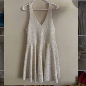UO White Sparkle Short Party Dress